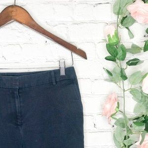 Anne Klein Deep Navy Cotton Capri Pants